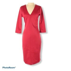 Textile Elizabeth and James red dress Small